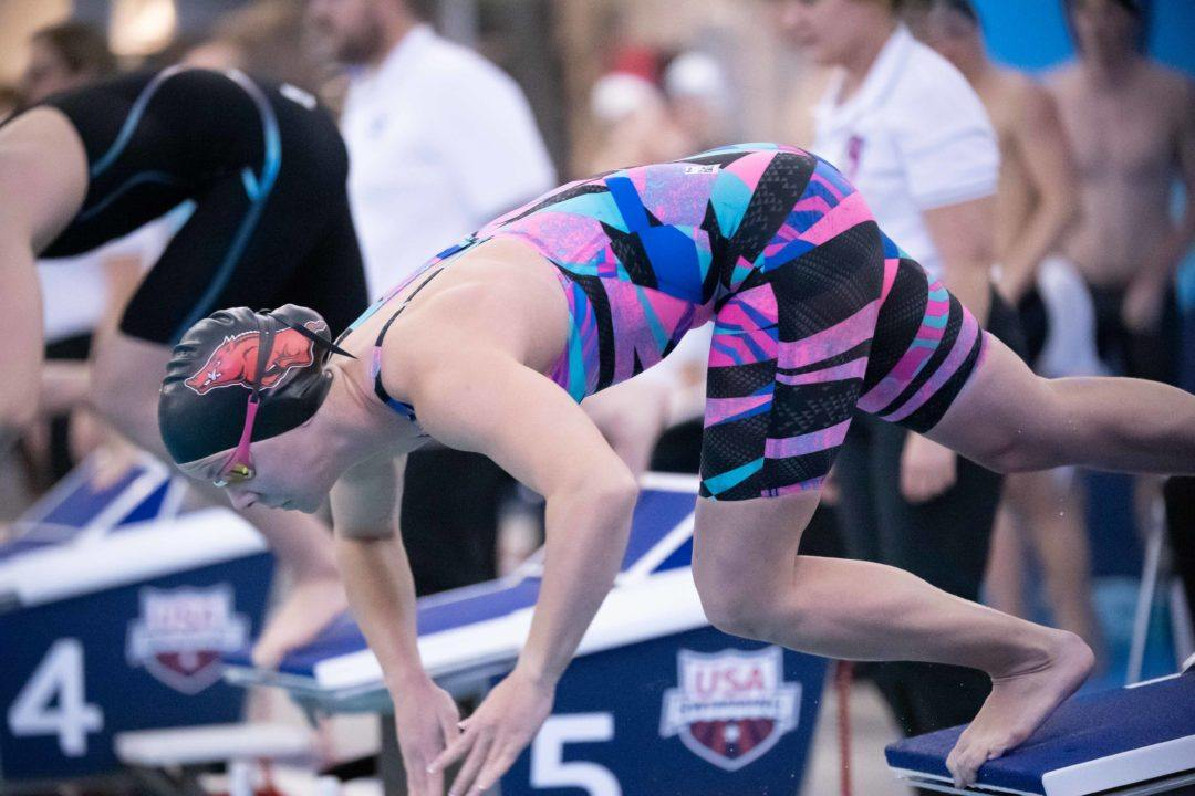 First-Year NCAA British Swimmers' Results At Conference Championships