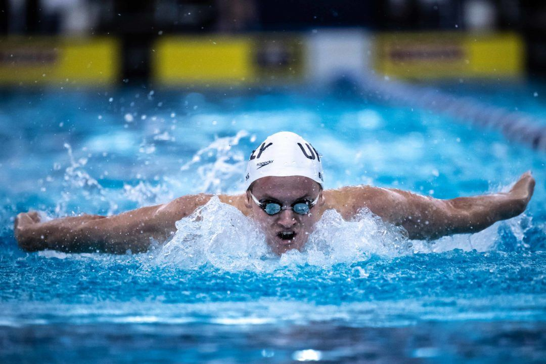 Indiana Freshman Brendan Burns Will Swim 100 Fly/100 Back Double (HEAT SHEETS)
