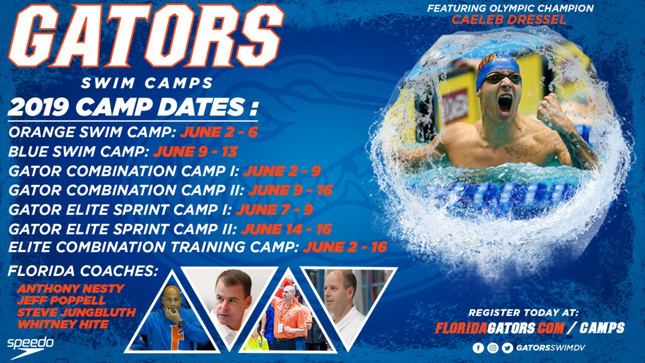 2019 Gator Swim Camps – Sign Up Today