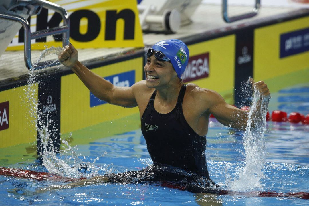 Daiene Dias Breaks South American Record in Women's 100 Fly
