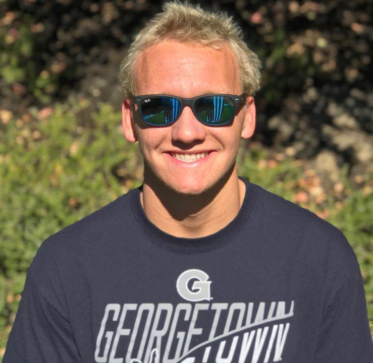 Sean Percin of Orinda Aquatics to Swim for Georgetown