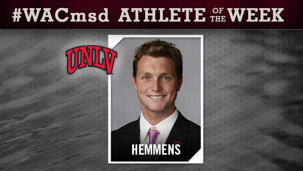 Hemmens Garners WAC Swimmer of the Week Nods