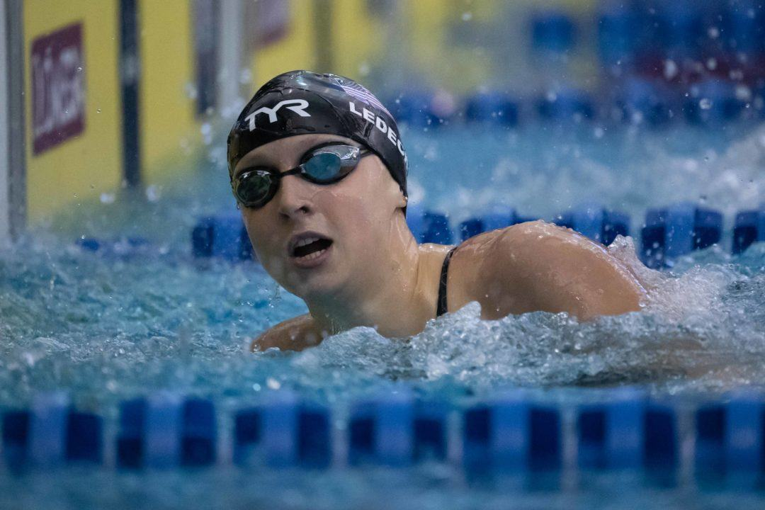 Katie Ledecky contre Simone Manuel sur 200 mètres