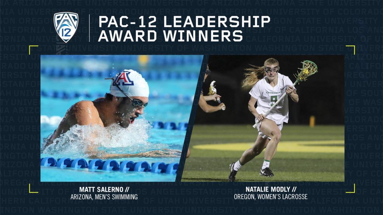 Arizona's Salerno Named Pac-12 Leadership Award Winner