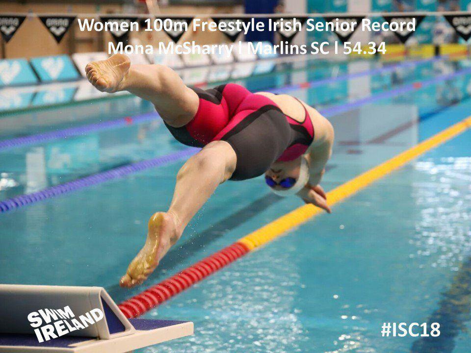 McSharry Overwrites 23-Year-Old 100 Free Irish National Record