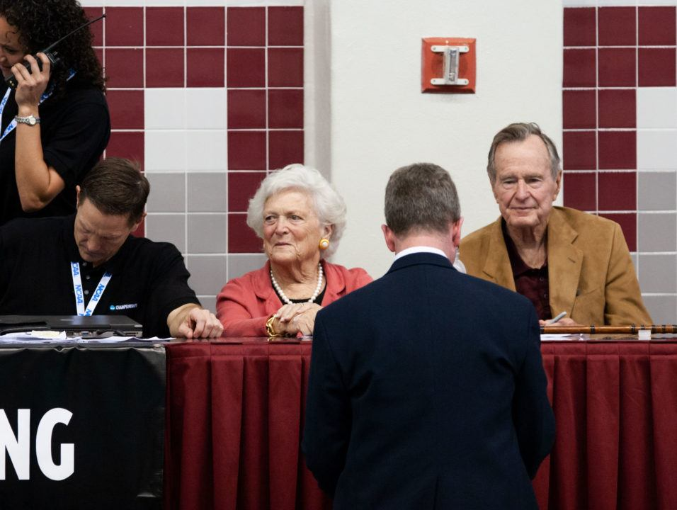 Remembering President George H.W. Bush: Yale Swimming Fan