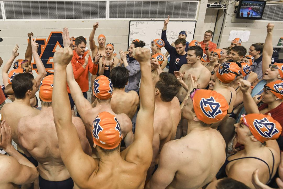 Auburn Sweeps Events in Senior Day Dual Meet vs. Gardner-Webb