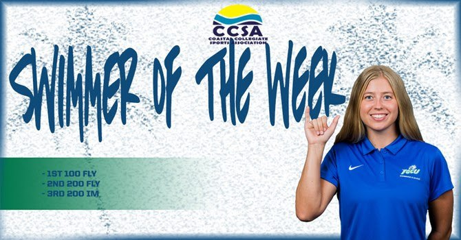 FGCU's Elmgreen Tabbed as CCSA Swimmer of the Week