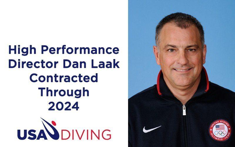USA Diving Secures Dan Laak as High Performance Director Through 2024