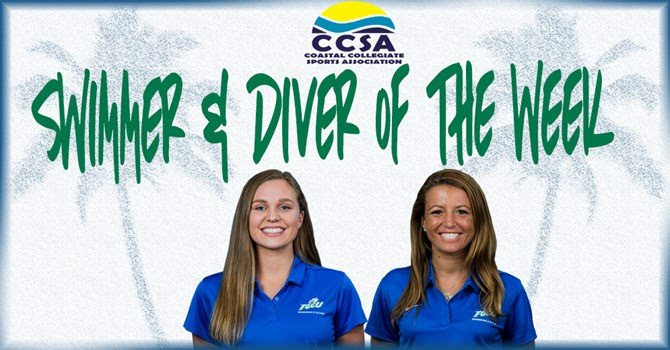 FGCU's Fry, Kessler Tabbed as CCSA Swimmer, Diver of the Week