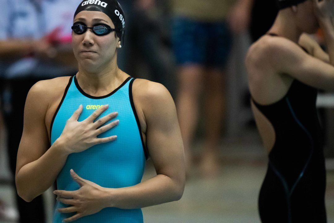 Farida Osman Re-Breaks Egyptian Record in 100 Fly at ISL Budapest