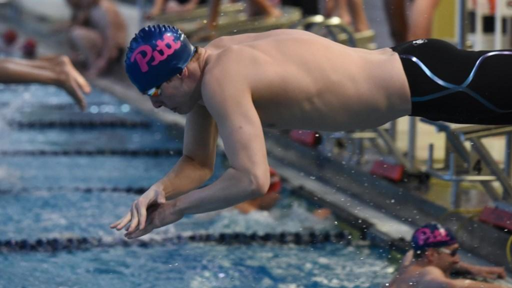 4 School Record Swims Highlight Senior Day for Pitt Panthers