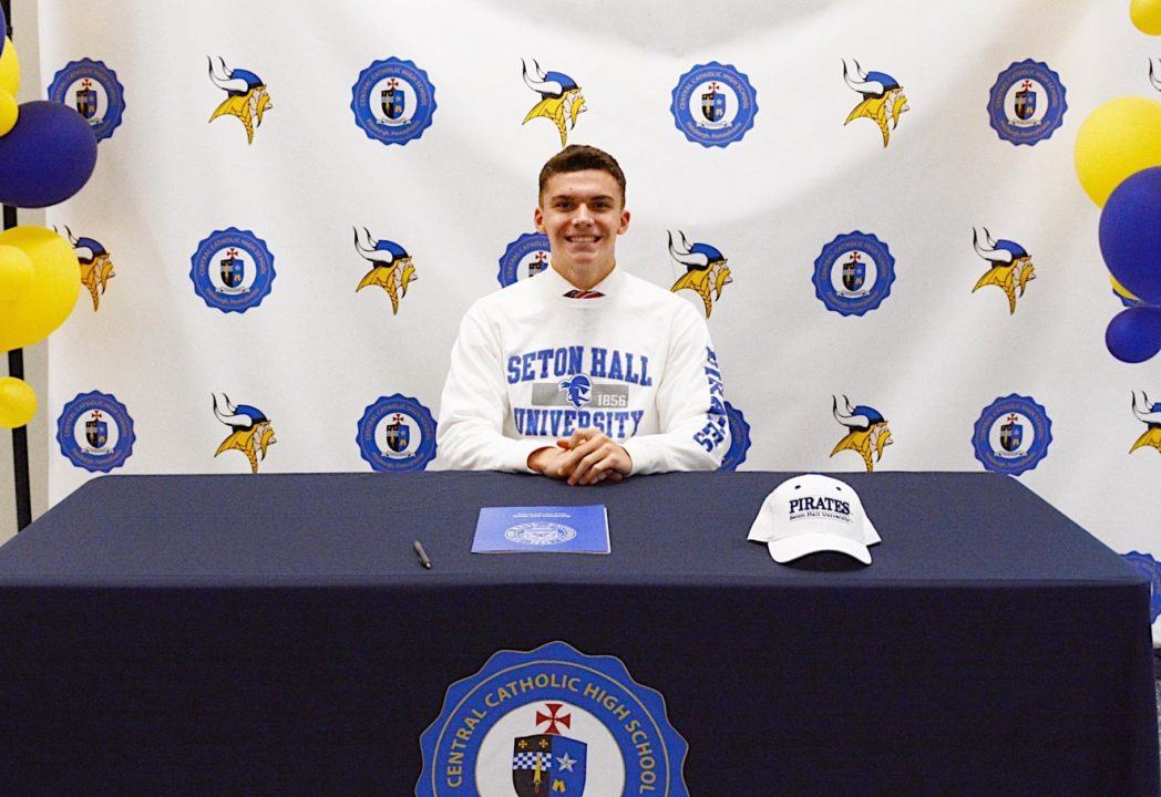 PA Breaststroker Gennarino Conzemius Commits to Seton Hall
