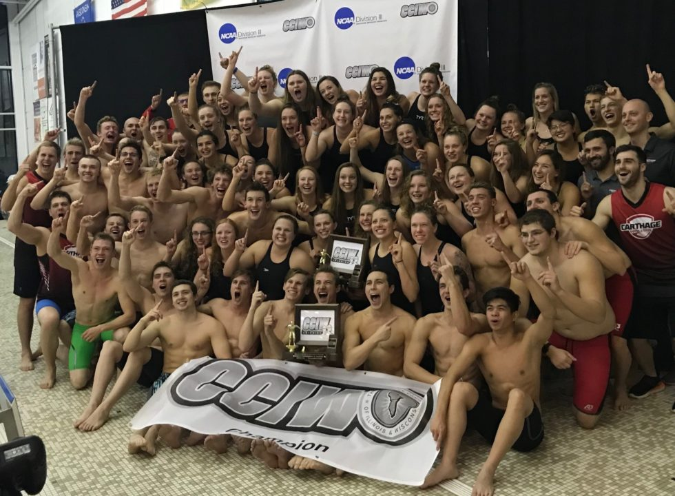 CCIW Champs: Carthage Sweeps Titles, Wheaton Sweeps MVPs