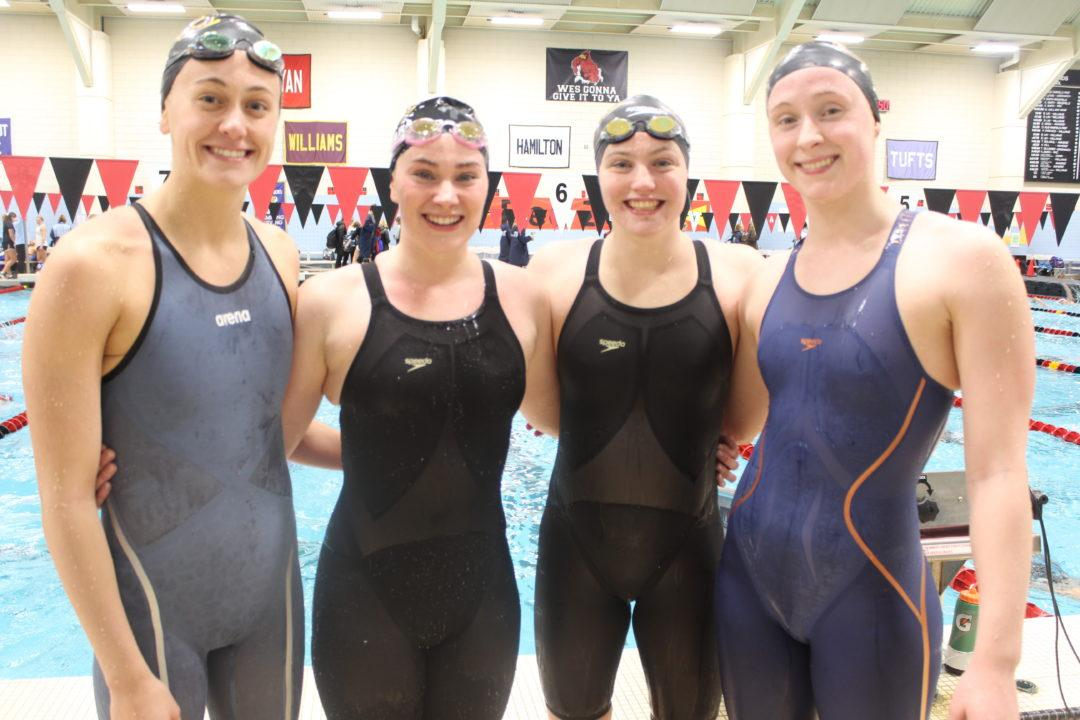 Williams Swims Nation-Leading 800 Free Relay to Open NESCACs