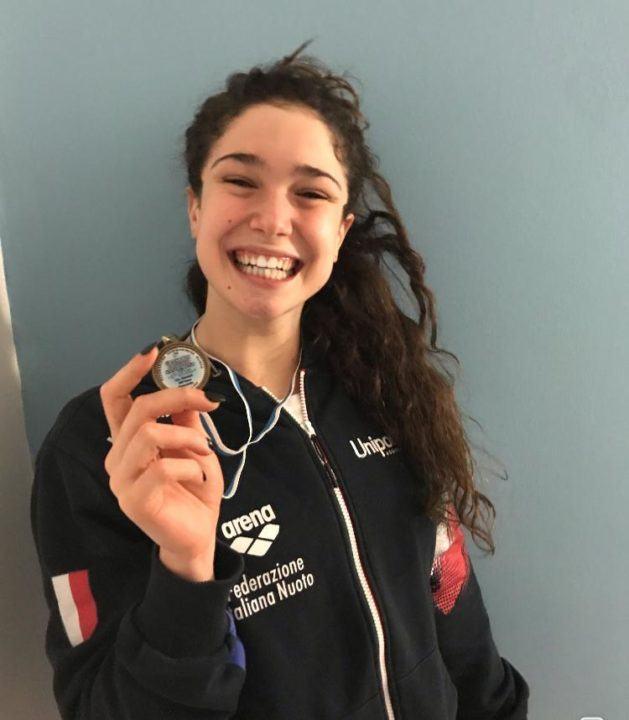 Italian 13-Year Old Swims 31.0 50 Breaststroke to Break Age Record