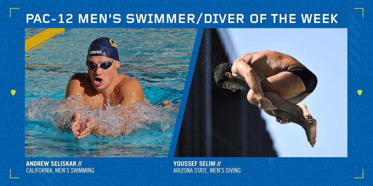 Pac-12 Names Seliskar, Selim as Swimmer, Diver of the Week