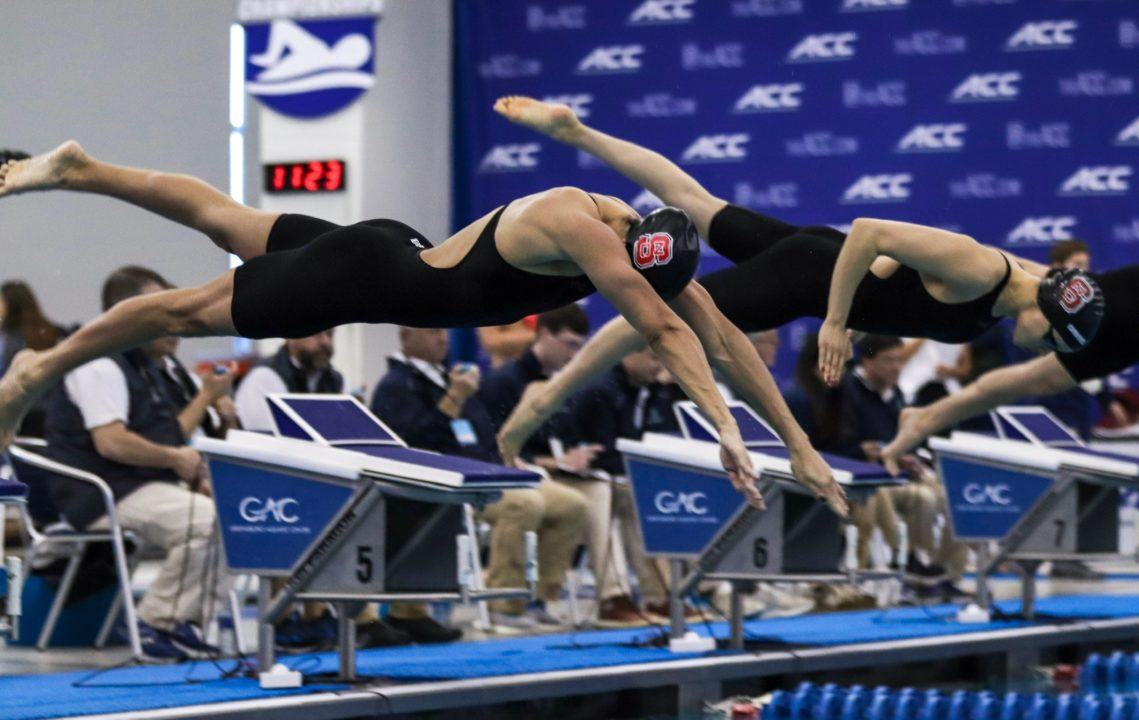Dolfin Swim of the Week: NC State's 1-4 Sweep In ACC 400 IM