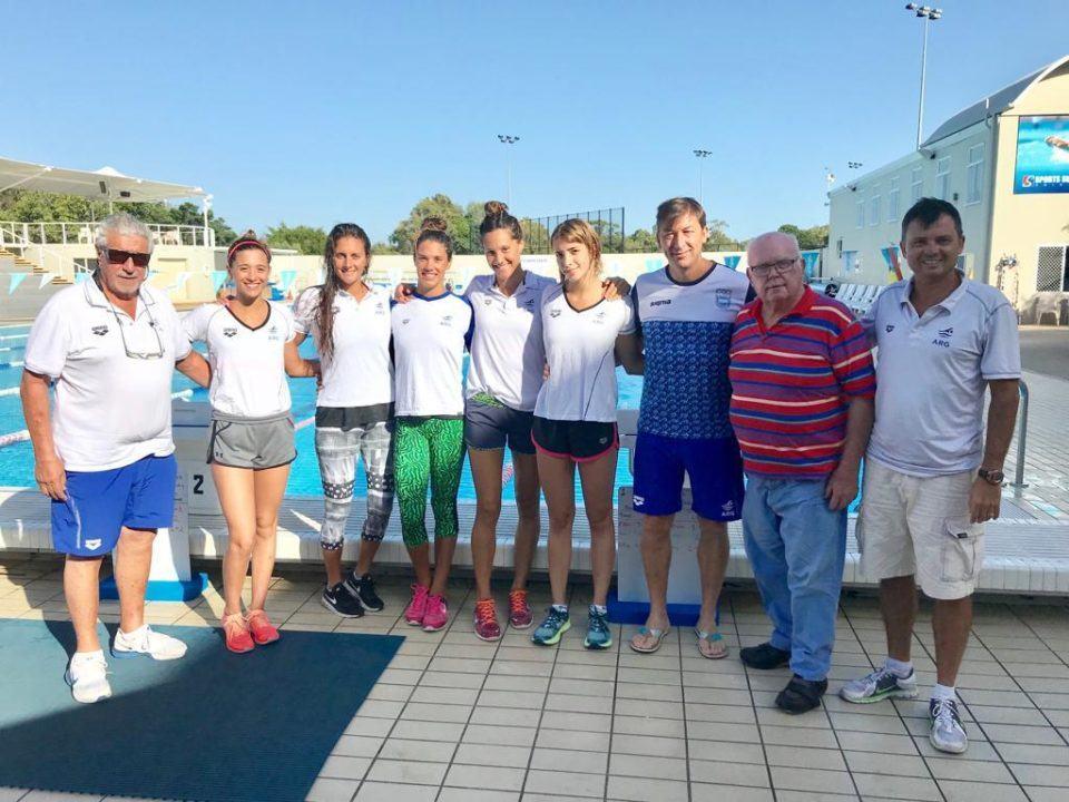 Así se entrenan las nadadoras argentinas en Australia