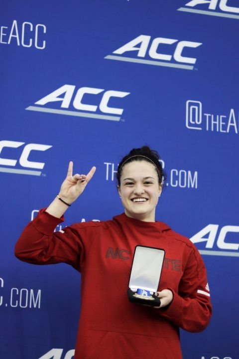 Madeline Kline Grabs Crucial Diving Finals Spot for NC State at ACCs