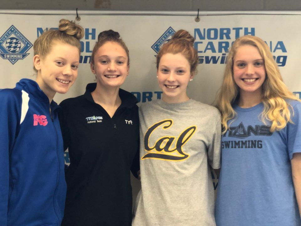 TAC Titans Break 13-14 National Age Group Record in 400 Free Relay