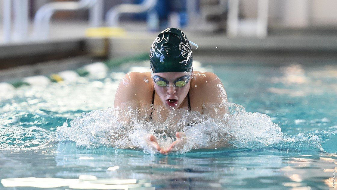 Kate McDonald Swims Season Best as Tulane Downs SMU by 8 Points