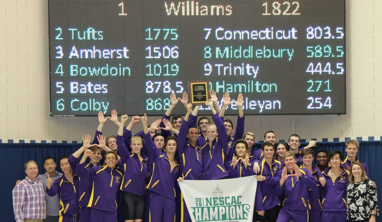 Williams Claims 17th NESCAC Title with Close Win over Tufts