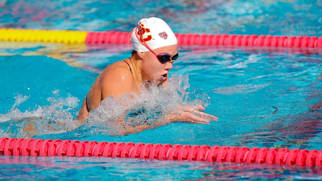 Louise Hansson Splits 22.2 Fly in USC-UCLA Rivalry Meet