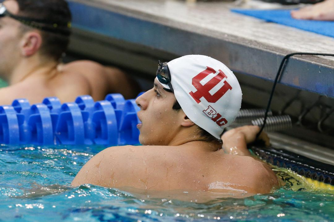 Indiana's Mohamed Samy Chooses 200 Back Over 100 Free on Saturday
