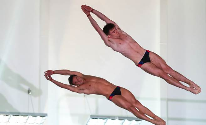 Daley, Lee Kick Off Partnership with British National Diving Cup Win