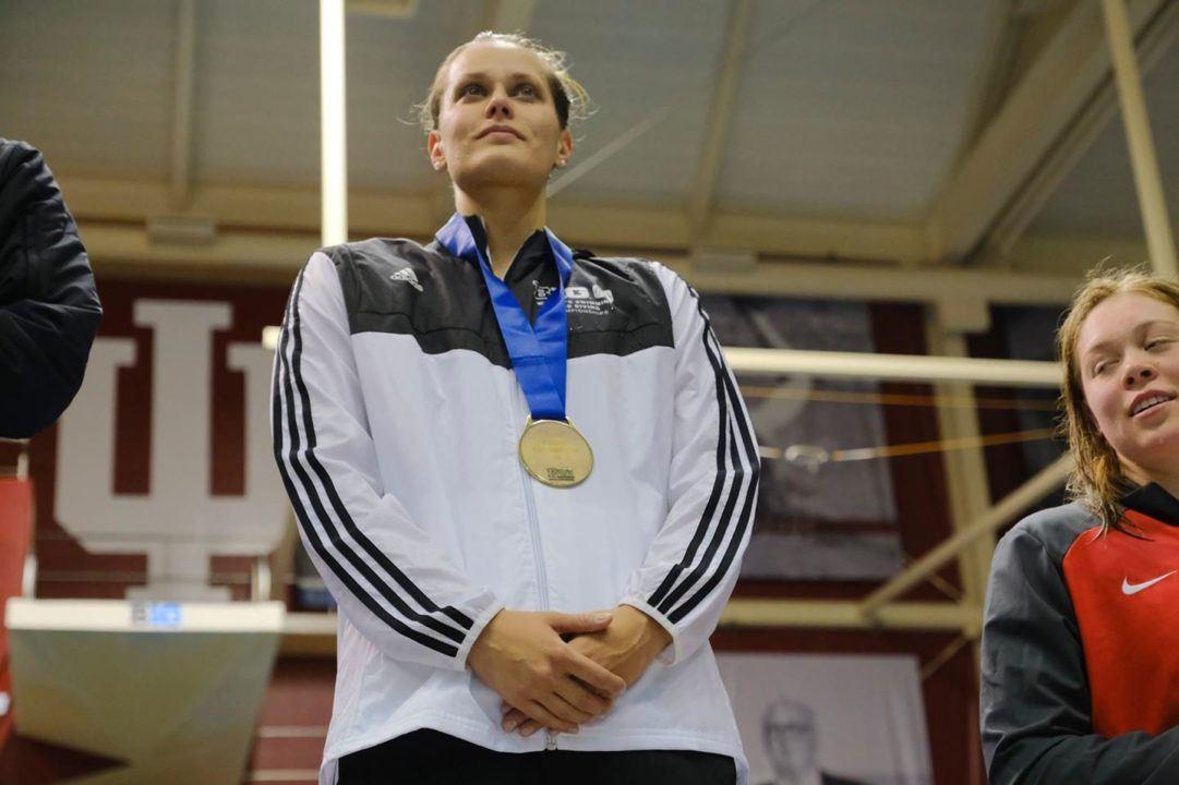 Koprivova Earns Rutgers' First Big Ten Swimming Medal