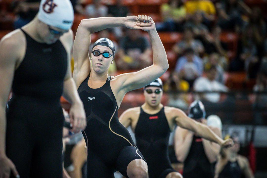 2019 W. NCAAs: Abbey Weitzeil Hits Fastest 50 Free in History – 21.02