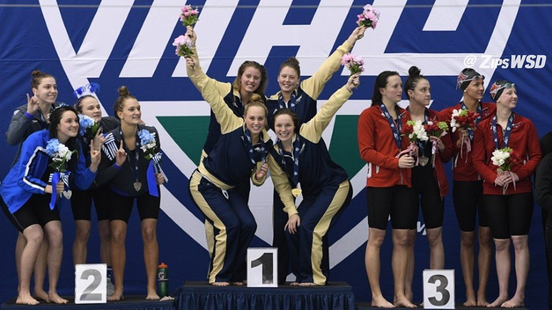 Akron Breaks MAC 200 Free Relay Record on Day 2 of Championships
