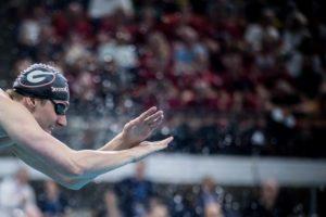 UGA Fall Invite Day 1 Prelims: Andrew Abruzzo Swims Lifetime Best in 500 Free