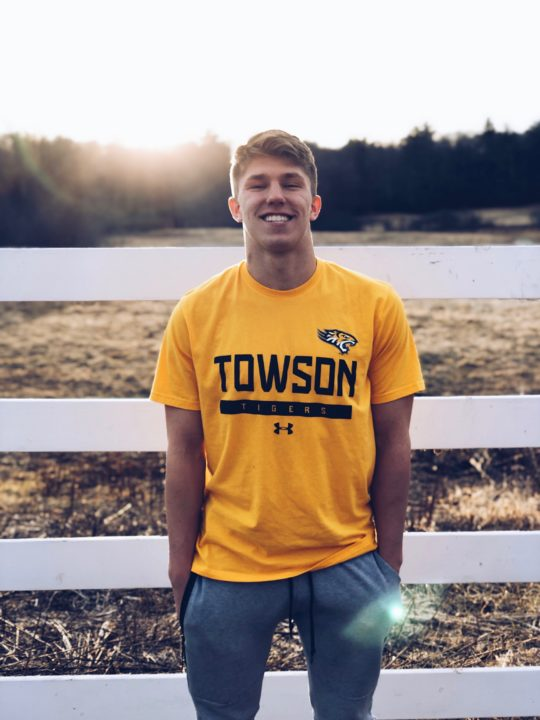 Towson Receives Verbal From Butterflier/Backstroker Andrew Lapin