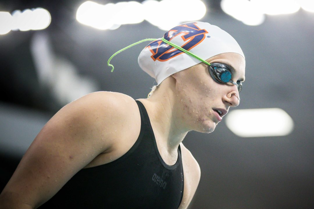 Carly Cummings Wins 3 Events as Auburn Sweeps Alabama