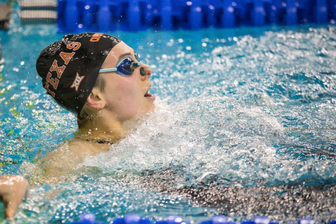 Pash, Adams Battle in 100 Back as Texas Beats SMU