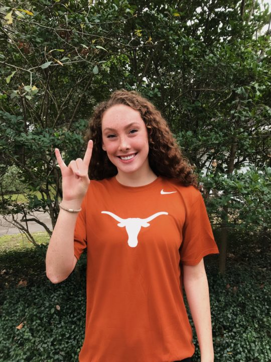 Breaststroker and Freestyler Ellie McLeod Will Stay In State At Texas