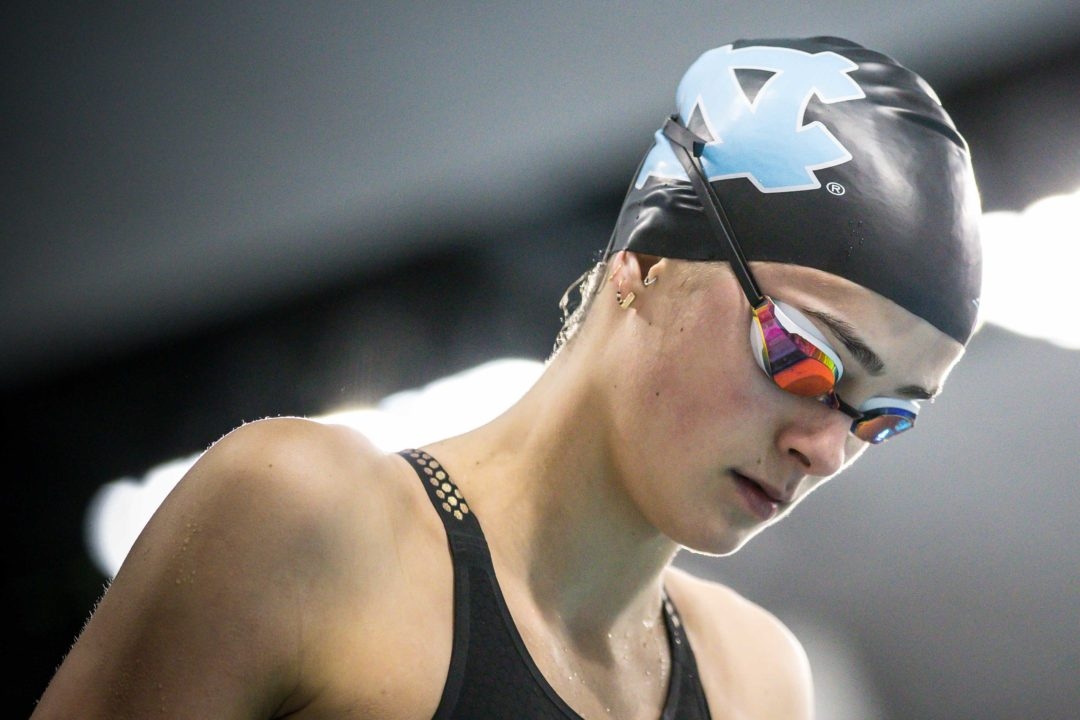 Grace Countie Hits 51.8 100 Back as UNC Overpowers Duke on Senior Night