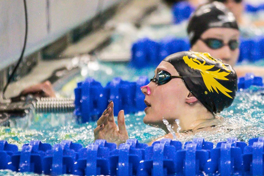 Missouri's Top Seed Haley Hynes Declares False Start in 100 Back on Day 4