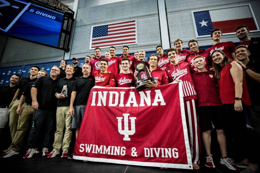 Indiana University Coaches Race 200 Free Before Big-10's
