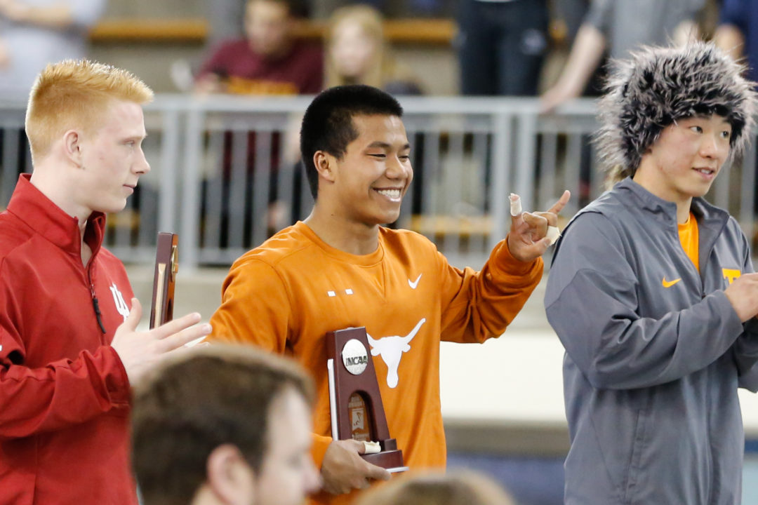 2019 M. NCAAs: Texas Scores 2 Divers, IU 1 on 3-Meter