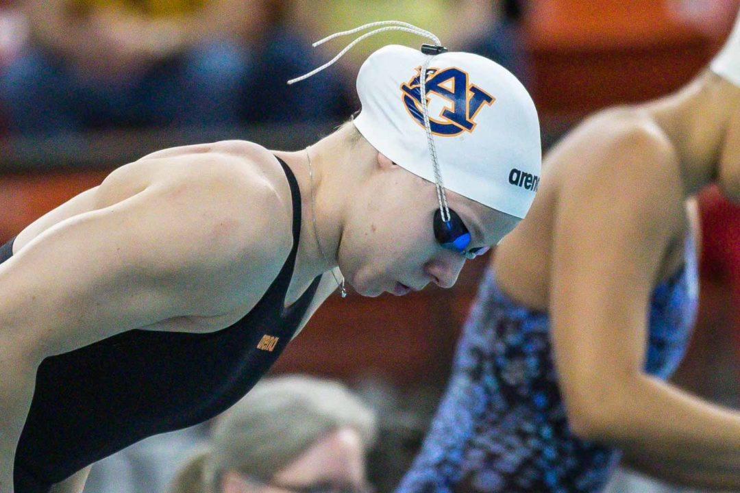Meynen Wins Double as Auburn Beats GT; Pumputis Swims Lifetime Best 100 Fly