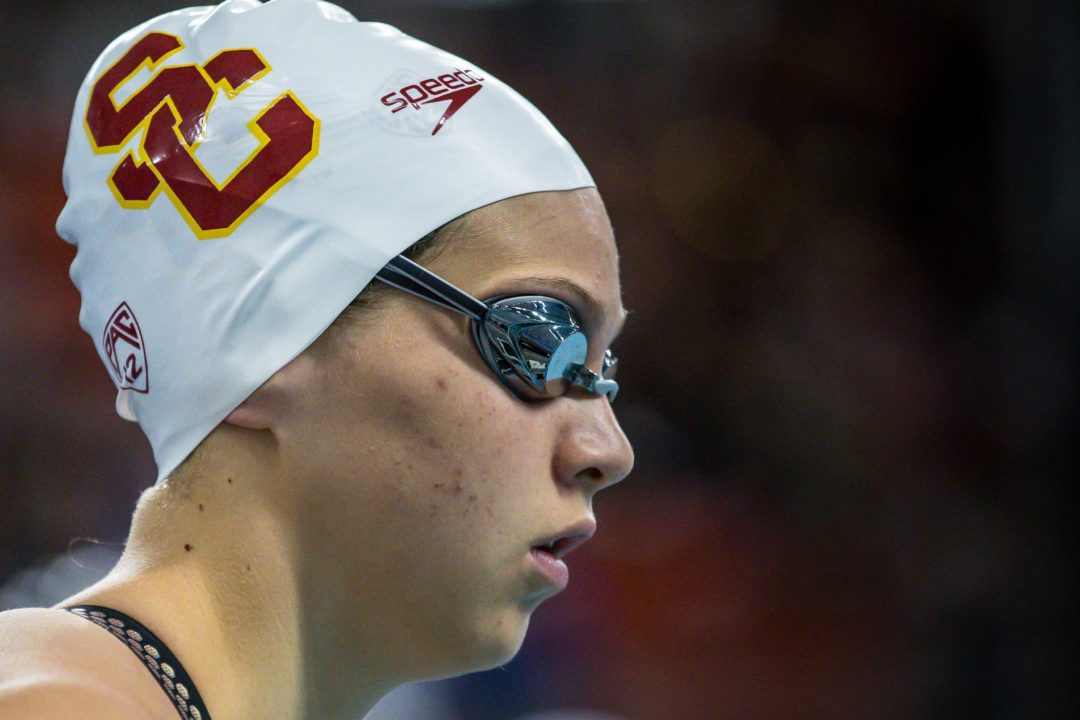 Laticia Transom Posts 1:47.4 200 Free in USC Win Over Utah