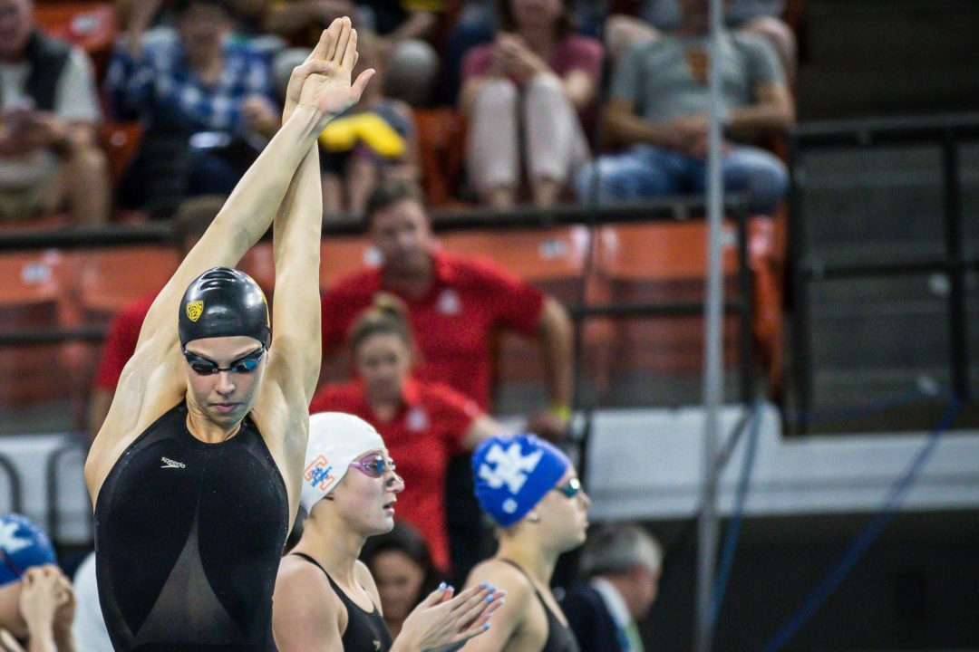 2019 W. NCAAs: Louise Hansson Swims Fastest 100 Fly in History