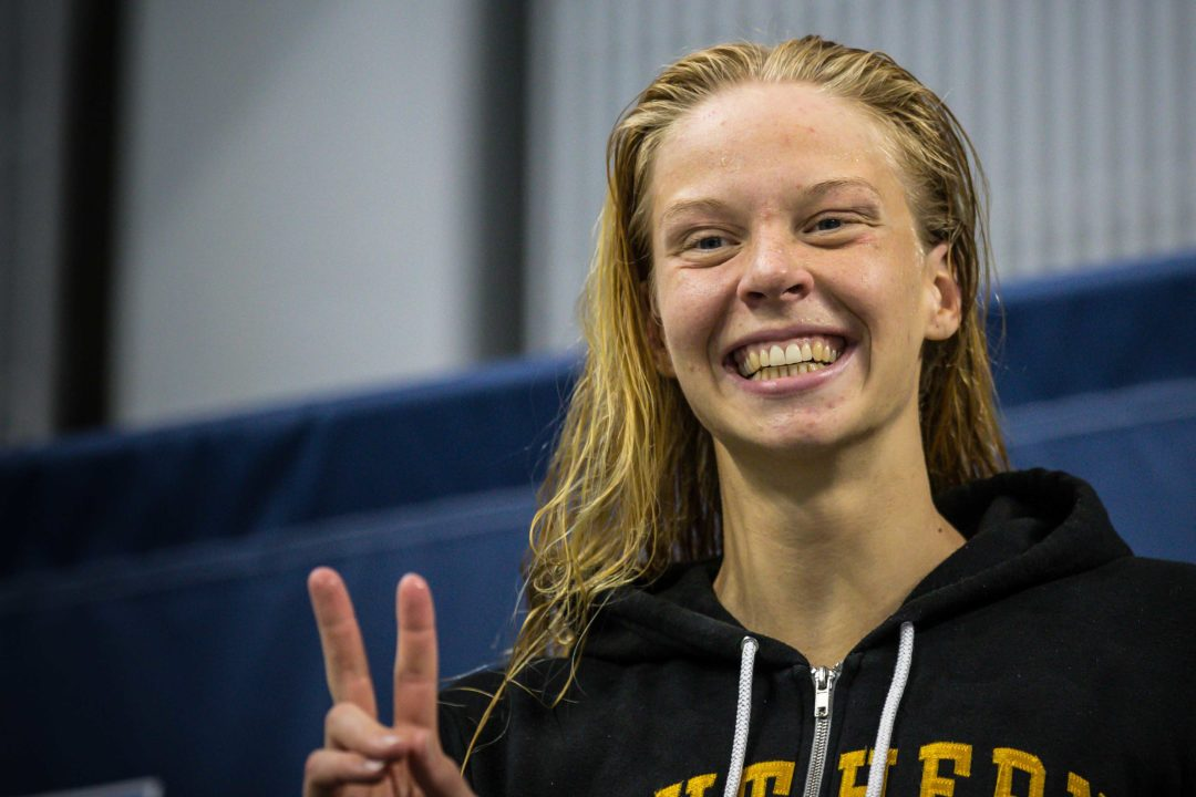 Louise Hansson Swims 57.3 in 100 Fly Prelims at Canadian Trials