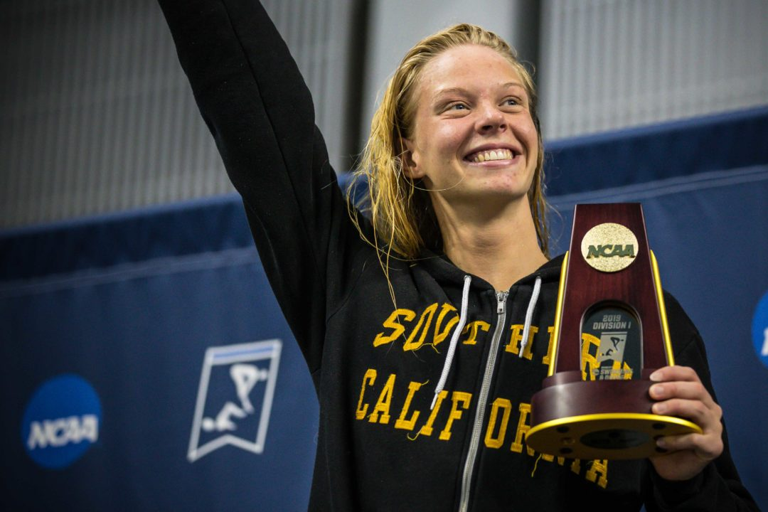 USC's Louise Hansson Earns 4th-Straight Pac-12 Title in 100 Fly with 49.94