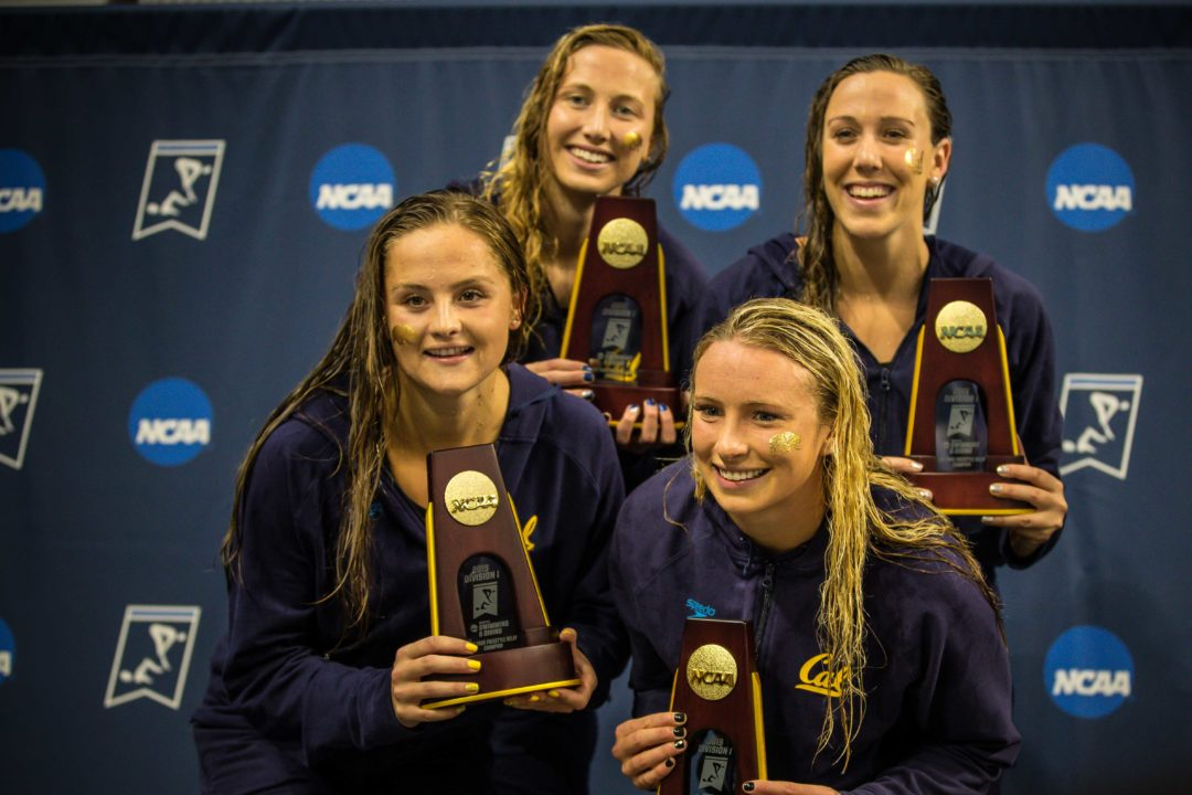 2019 W. NCAAs: Cal's 200 Free Relay Breaks Every Record in the Books