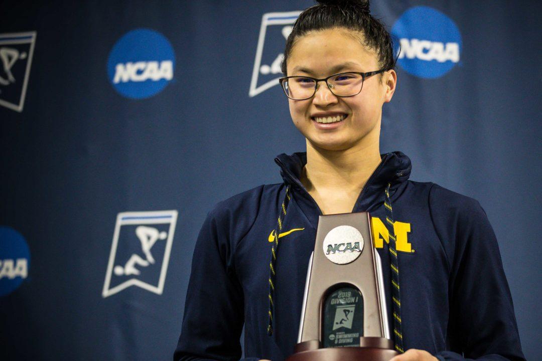 World Champion Maggie MacNeil Returns to Ann Arbor; Unsure About NCAA Season