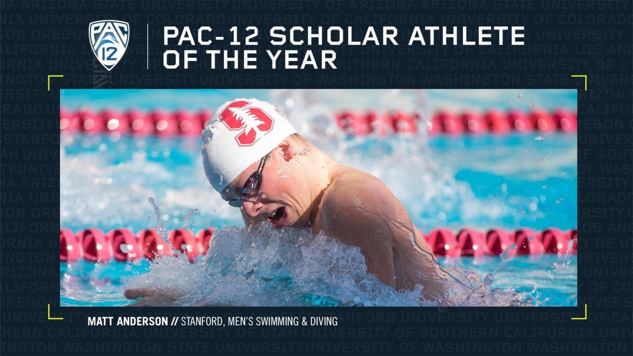Stanford's Anderson Named Pac-12 Men's Scholar Athlete of the Year